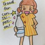 "one sentence diary  ""What's good for constipation?""  便秘には何がいいですか?"
